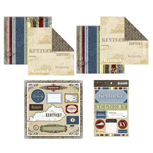 Scrapbook Customs - Lovely Scrapbook Kit - Kentucky