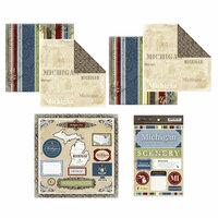 Scrapbook Customs - Lovely Scrapbook Kit - Michigan