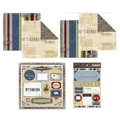 Scrapbook Customs - Lovely Scrapbook Kit - Wyoming