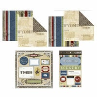 Scrapbook Customs - Lovely Scrapbook Kit - Wyoming