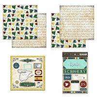 Scrapbook Customs - Explore Country Scrapbook Kit - Spain