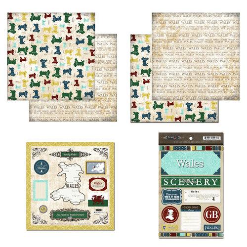 Scrapbook Customs - Explore Country Scrapbook Kit - Wales