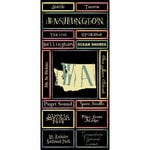 Scrapbook Customs - United States Collection - Washington - Cardstock Stickers - Map