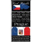 Scrapbook Customs - World Collection - Czech Republic - Cardstock Stickers - Scratchy