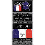 Scrapbook Customs - World Collection - France - Cardstock Stickers - Scratchy