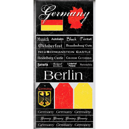 Scrapbook Customs - World Collection - Germany - Cardstock Stickers - Scratchy