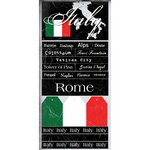Scrapbook Customs - World Collection - Italy - Cardstock Stickers - Scratchy