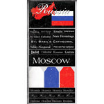 Scrapbook Customs - World Collection - Russia - Cardstock Stickers - Scratchy