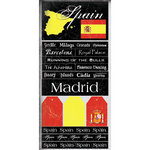 Scrapbook Customs - World Collection - Spain - Cardstock Stickers - Scratchy