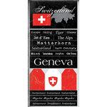Scrapbook Customs - World Collection - Switzerland - Cardstock Stickers - Scratchy