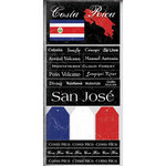 Scrapbook Customs - World Collection - Costa Rica - Cardstock Stickers - Scratchy