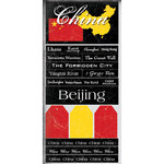 Scrapbook Customs - World Collection - China - Cardstock Stickers - Scratchy