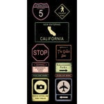 Scrapbook Customs - United States Collection - California - Cardstock Stickers - Road Signs
