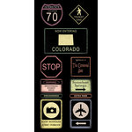 Scrapbook Customs - United States Collection - Colorado - Cardstock Stickers - Road Signs
