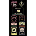 Scrapbook Customs - United States Collection - Oklahoma - Cardstock Stickers - Road Signs