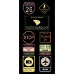 Scrapbook Customs - United States Collection - South Carolina - Cardstock Stickers - Road Signs