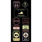 Scrapbook Customs - United States Collection - Virginia - Cardstock Stickers - Road Signs