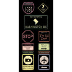 Scrapbook Customs - United States Collection - Washington DC - Cardstock Stickers - Road Signs