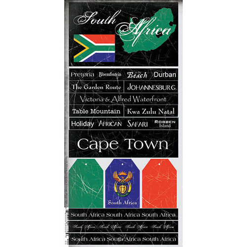 Scrapbook Customs - World Collection - South Africa - Cardstock Stickers - Scratchy