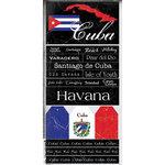 Scrapbook Customs - World Collection - Cuba - Cardstock Stickers - Scratchy