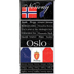 Scrapbook Customs - World Collection - Norway - Cardstock Stickers - Scratchy
