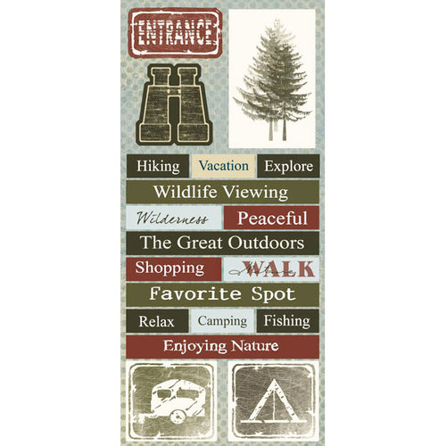 Scrapbook Customs - Travel Collection - Cardstock Stickers - National Parks