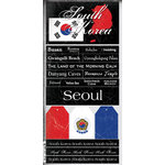 Scrapbook Customs - World Collection - South Korea - Cardstock Stickers - Scratchy