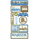 Scrapbook Customs - United States Collection - Alaska - Cardstock Stickers - Alaskan Cruise 3