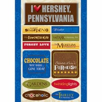 Scrapbook Customs - United States Collection - Pennsylvania - Cardstock Stickers - Hershey