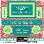 Scrapbook Customs - United States Collection - Hawaii - Cardstock Stickers - Big Island - Bon Voyage