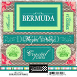 Scrapbook Customs - World Collection - Bermuda - Cardstock Stickers - Bon Voyage