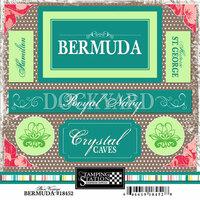 Scrapbook Customs - World Collection - Bermuda - Cardstock Stickers - Bon Voyage