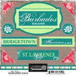 Scrapbook Customs - World Collection - Barbados - Cardstock Stickers - Bon Voyage