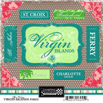 Scrapbook Customs - World Collection - Virgin Islands - Cardstock Stickers - Bon Voyage