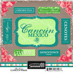 Scrapbook Customs - World Collection - Mexico - Cardstock Stickers - Cancun - Bon Voyage