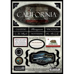 Scrapbook Customs - United States Collection - California - State Cardstock Stickers - Travel