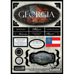 Scrapbook Customs - United States Collection - Georgia - State Cardstock Stickers - Travel