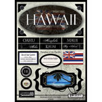 Scrapbook Customs - United States Collection - Hawaii - State Cardstock Stickers - Travel