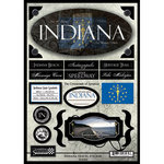 Scrapbook Customs - United States Collection - Indiana - State Cardstock Stickers - Travel