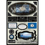Scrapbook Customs - United States Collection - Kentucky - State Cardstock Stickers - Travel