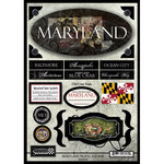Scrapbook Customs - United States Collection - Maryland - State Cardstock Stickers - Travel