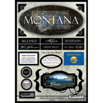Scrapbook Customs - United States Collection - Montana - State Cardstock Stickers - Travel