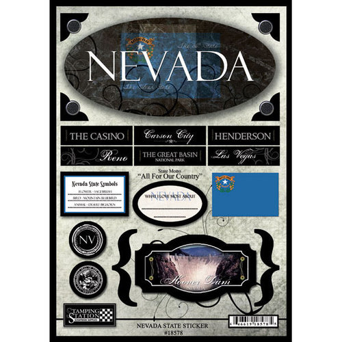 Scrapbook Customs - United States Collection - Nevada - State Cardstock Stickers - Travel