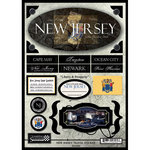 Scrapbook Customs - United States Collection - New Jersey - State Cardstock Stickers - Travel