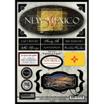 Scrapbook Customs - United States Collection - New Mexico - State Cardstock Stickers - Travel