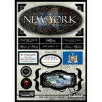Scrapbook Customs - United States Collection - New York - State Cardstock Stickers - Travel