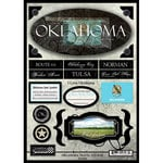 Scrapbook Customs - United States Collection - Oklahoma - State Cardstock Stickers - Travel