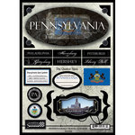 Scrapbook Customs - United States Collection - Pennsylvania - State Cardstock Stickers - Travel