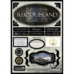 Scrapbook Customs - United States Collection - Rhode Island - State Cardstock Stickers - Travel