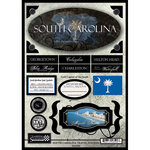 Scrapbook Customs - United States Collection - South Carolina - State Cardstock Stickers - Travel